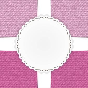 Illustration de la carte de modèle de jeans rose