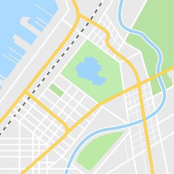 Illustration de carte de ville pour l'application de navigation