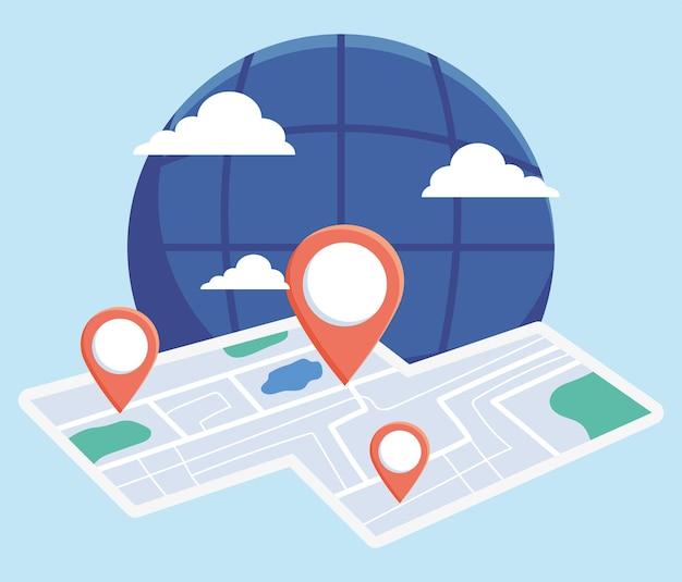 Illustration de la carte de la ville