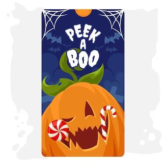 Illustration de carte de voeux halloween jack o lantern