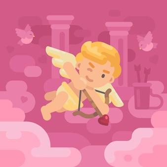 Illustration de carte de voeux saint valentin
