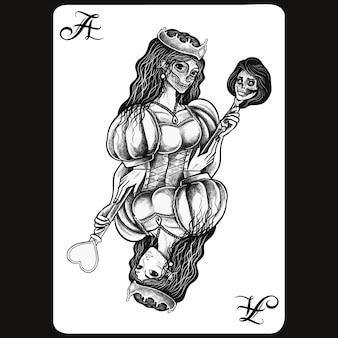 Illustration de cartes à jouer femmes