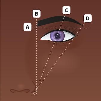 Illustration de cartographie des sourcils dégradés
