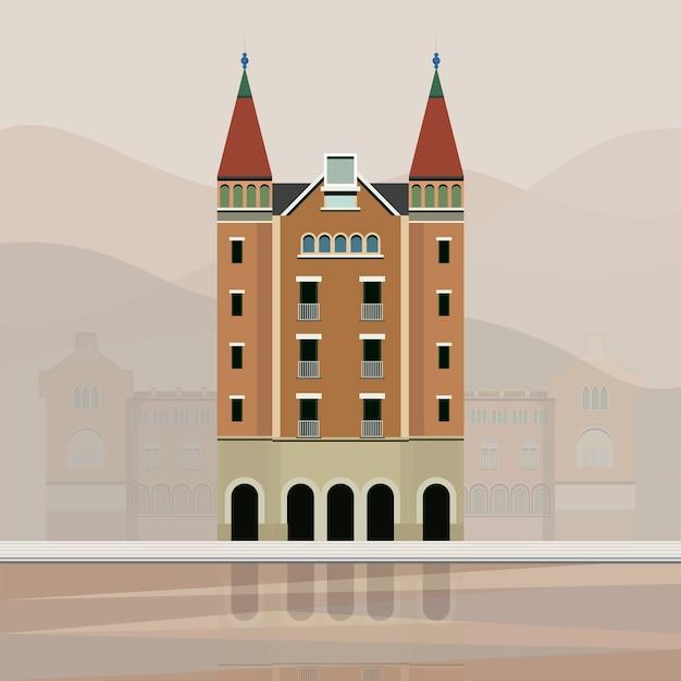 Illustration de casa de les punxes