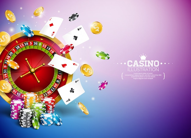 Illustration de casino avec roulette