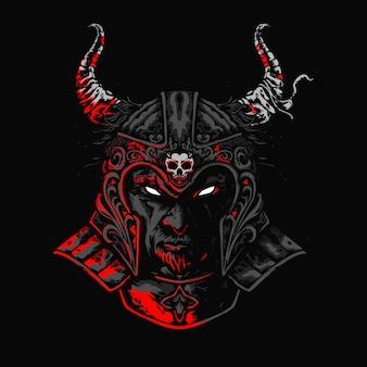 Illustration de casque de gladiateur mecha