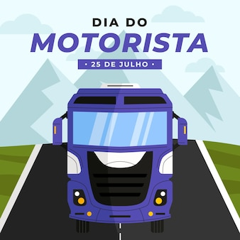 Illustration de célébration de dia do motorista