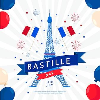 Illustration de la célébration du jour de la bastille