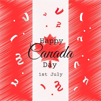 Illustration de célébration de la fête du canada dessinés à la main