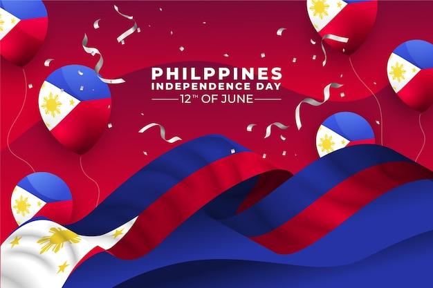 Illustration de célébration de la fête de l'indépendance des philippines dégradé
