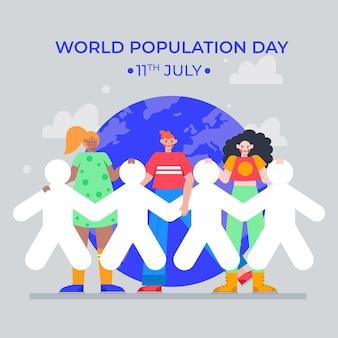 Illustration de la célébration de la journée mondiale de la population