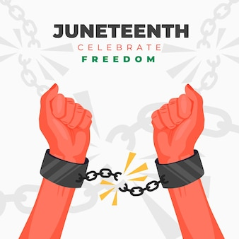 Illustration de célébration plat juneteenth