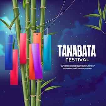 Illustration de célébration de tanabata réaliste