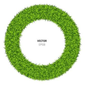 Illustration de cercle d'herbe verte