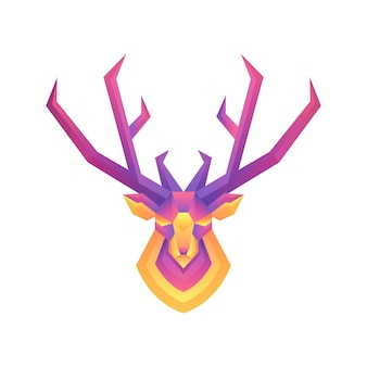 Illustration de cerf dégradé coloré