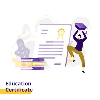 Illustration de certificat d'éducation