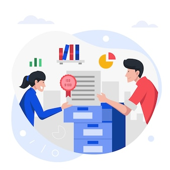 Illustration de la certification iso