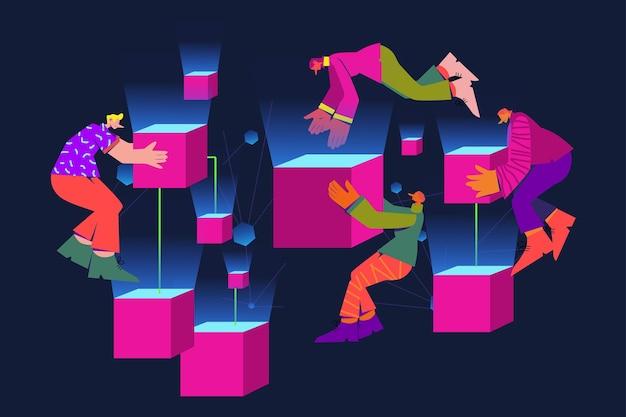 Illustration de la chaîne de blocs