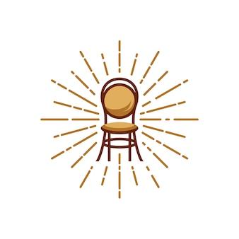 Illustration de chaise avec starburst