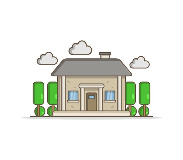 Illustration chalet propriété architecture élément ville immobilier maison résidentielle