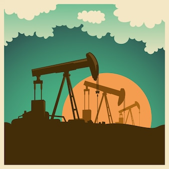 Illustration de champ de pétrole