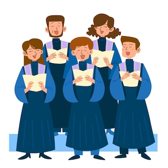 Illustration de chant chorale gospel