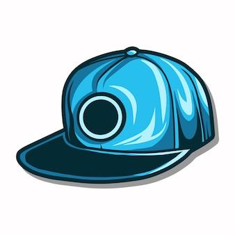 Illustration de chapeau de snapback isolé sur fond blanc