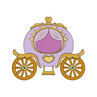 Illustration de chariot de conte de fées