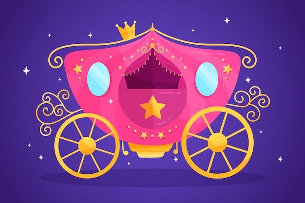 Illustration avec chariot de conte de fées