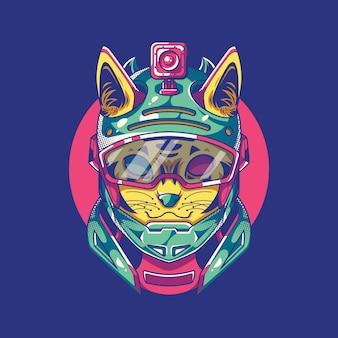 Illustration de chat d'action