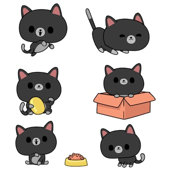 Illustration de chat kawaii