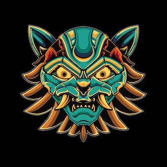 Illustration de chat mecha