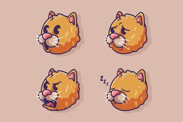 Illustration de chat mignon