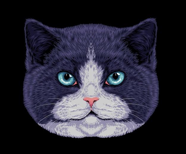 Illustration de chat noir