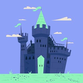 Illustration de château de conte de fées