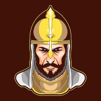 Illustration de chevalier arabe