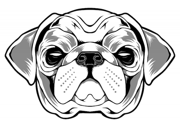 Illustration de chien carlin