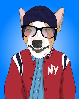 Illustration de chien cool