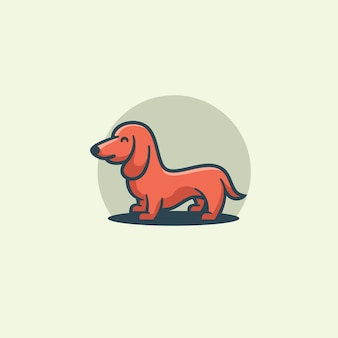Illustration de chien mignon design plat