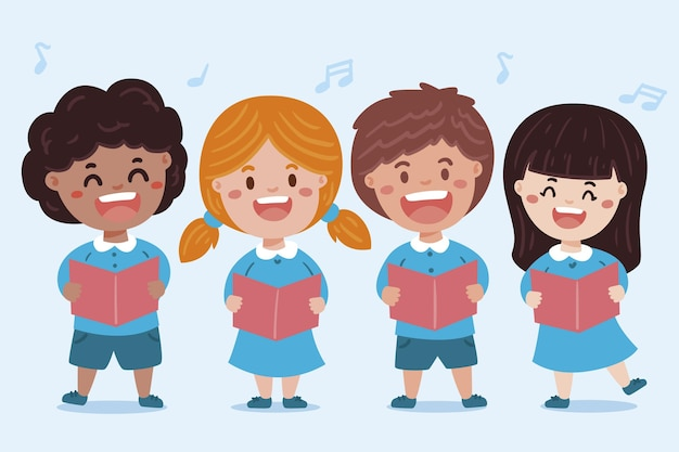 Illustration de chorale d'enfants