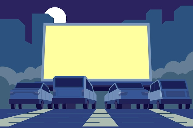 Illustration de cinéma drive-in