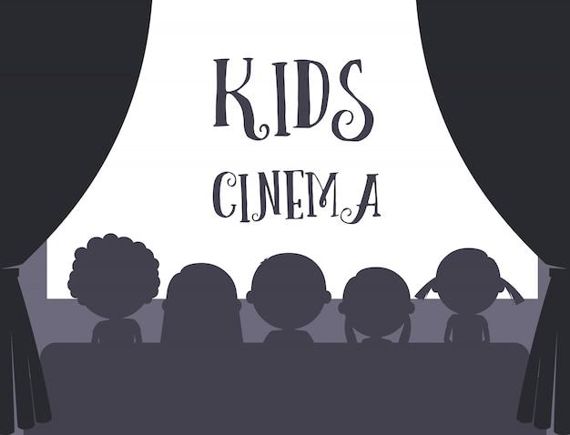 Illustration de cinéma pour enfants