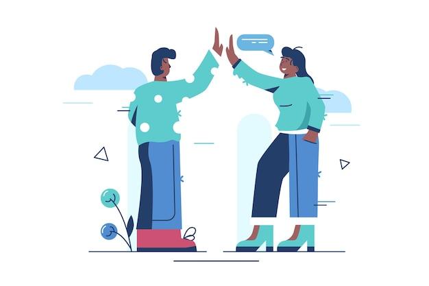 Illustration de cinq gestes élevés.