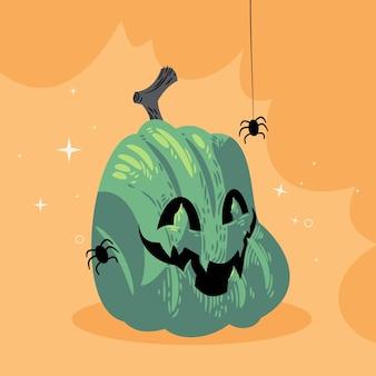 Illustration de citrouille d'halloween dessinée à la main