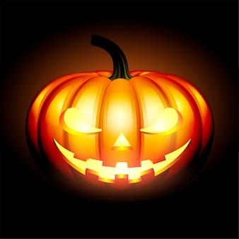 Illustration de citrouille d'halloween jack o lantern