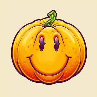 Illustration de citrouille souriante