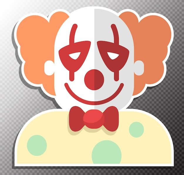 Illustration de clown dans un style plat