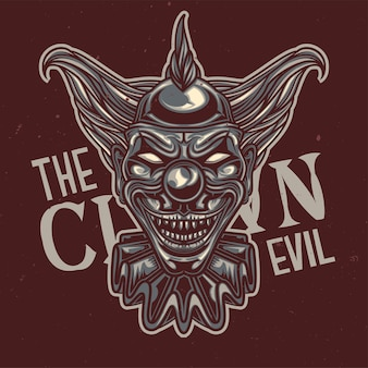 Illustration de clown effrayant