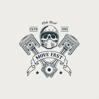 Illustration de club de moto classique