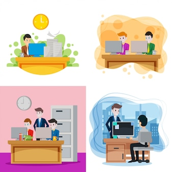 Illustration de co-travailleur